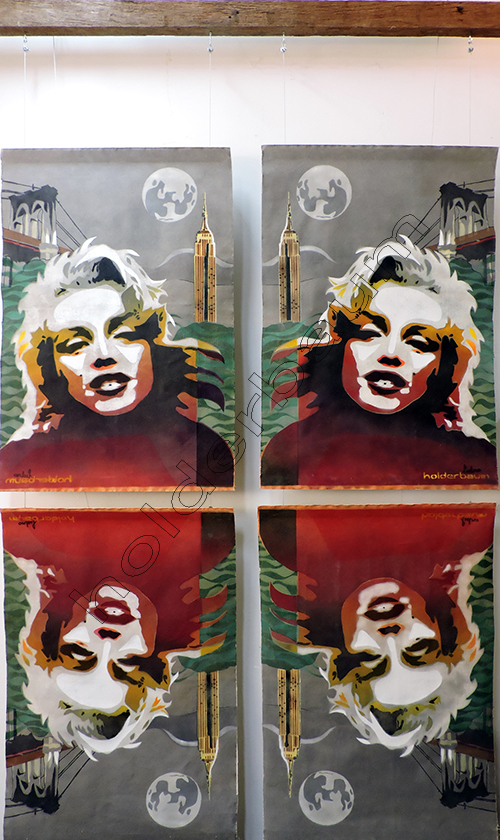 00 Solidão em Manhattan - Reflexos - (Instalação (Técnica mista) (160x270) DSCN9525